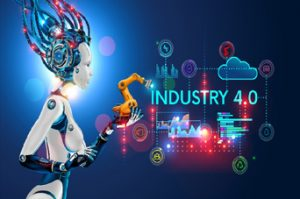 Industry 4.0 Robot Graphic